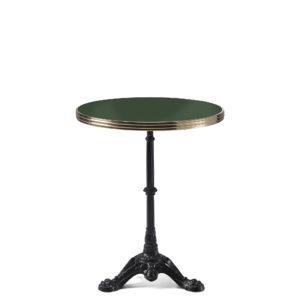 Table bistrot ronde émail vert oxyde chromique diamètre 60 cm