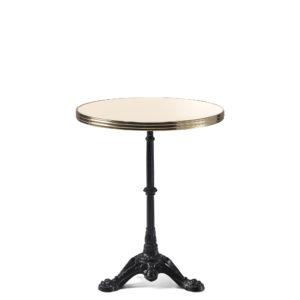 Table bistrot ronde émail ivoire claire diamètre 60 cm