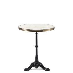 Table bistrot ronde céramique blanche diamètre 60 cm
