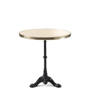 Table bistrot ronde émail ivoire claire diamètre 70 cm