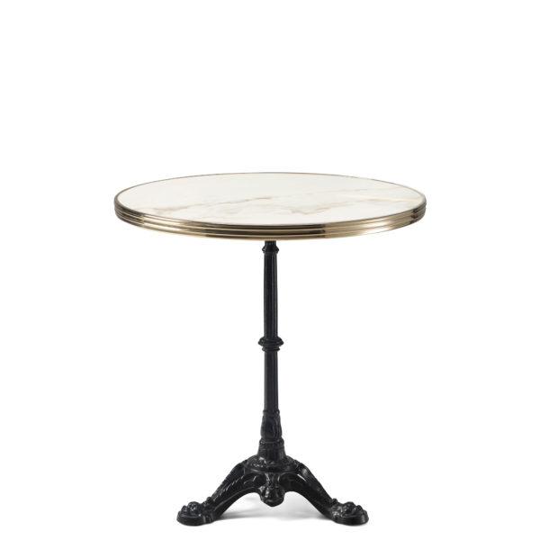 Table bistrot ronde céramique blanche diamètre 70 cm