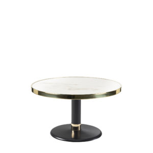 Table basse lounge ronde céramique blanc diamètre 70 cm