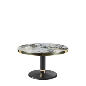 Table basse lounge ronde céramique onyx diamètre 70 cm