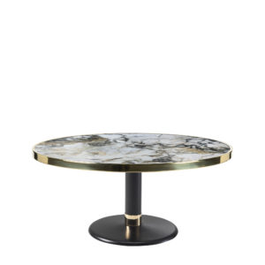 Table basse lounge ronde céramique onyx diamètre 90 cm