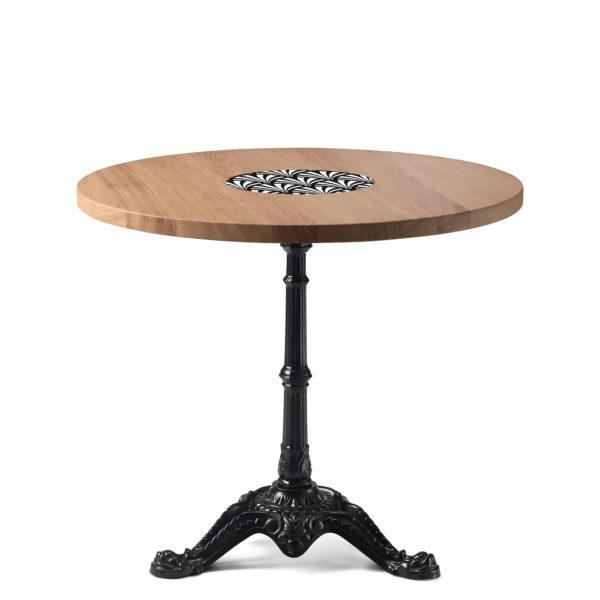 Table de bistrot en chêne diamètre 90 cm