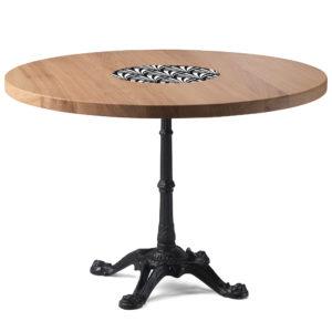 Table de bistrot en chêne diamètre 120 cm