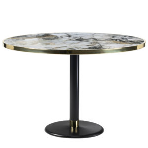 Table de bistrot en céramique onyx diamètre 120 cm