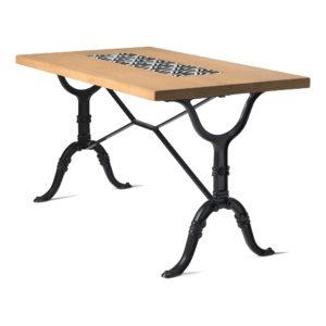 Table de bistrot en chêne diamètre 120x70 cm
