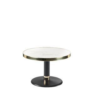 Table basse ronde céramique blanc diamètre 60 cm