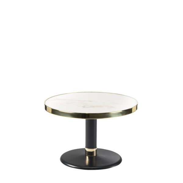 Table basse ronde céramique blanc diamètre 60 cm