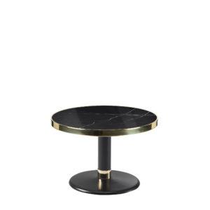 Table basse ronde céramique noir diamètre 60 cm