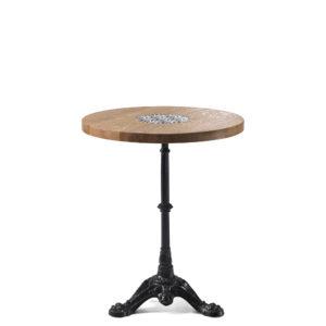 Table de bistrot en chêne diamètre 60 cm