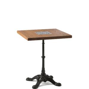 Table de bistrot en chêne 60x60 cm