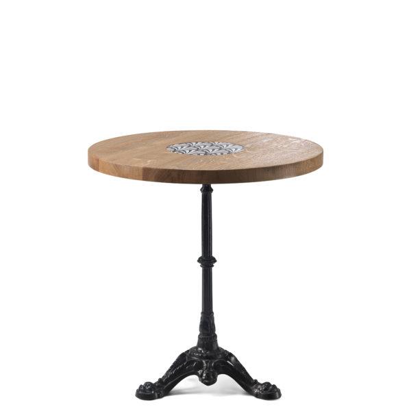 Table de bistrot en chêne diamètre 70 cm