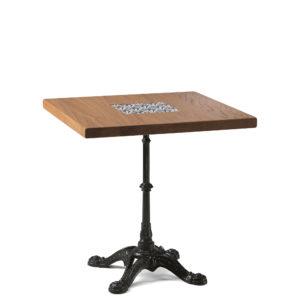 Table de bistrot en chêne 70x70 cm