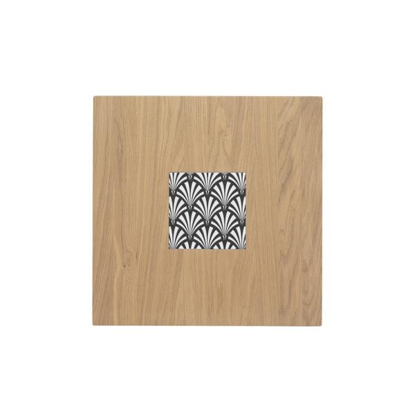 Table Ardamez chêne 60x60 cm vue du dessus