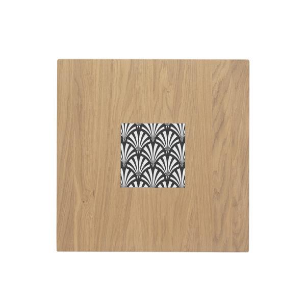 Table Ardamez chêne 70x70 cm vue du dessus