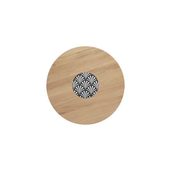 Table Ardamez chêne  diamètre 60 cm vue du dessus