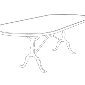 silhouette table format oblong Ardamez