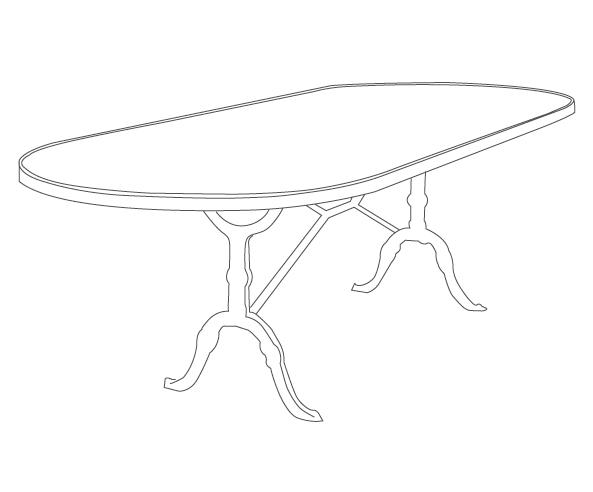 silhouette table format oblong Ardamez